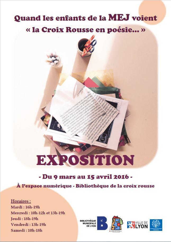 Affiche Exposition Bibliothèque Croix Rousse 2016