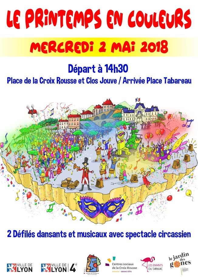 Affiche Carnaval Croix Rousse 2018