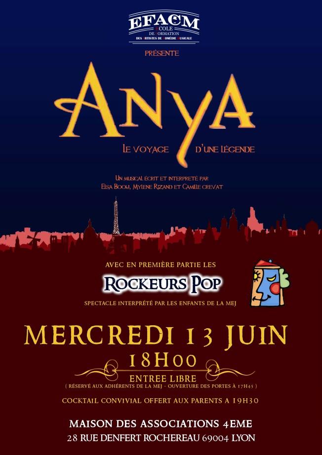 Affiche A3 Anya (MEJ) - Mercredi 13 Juin 2018